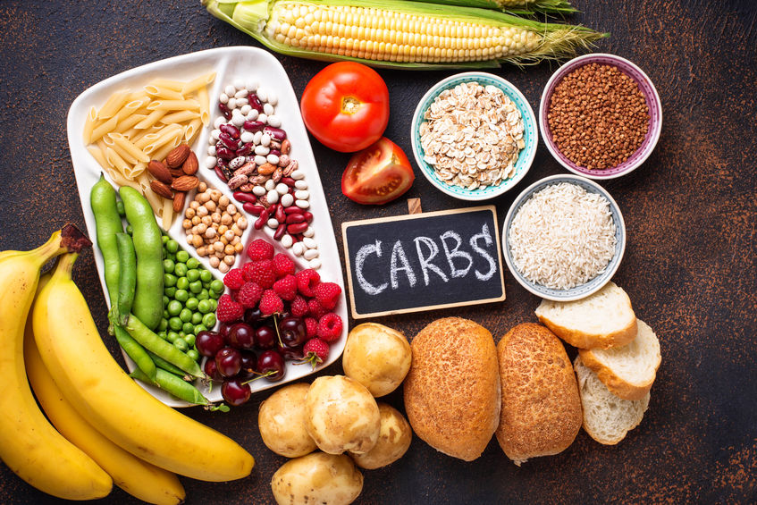 Change the type of carbohydrates for diet.